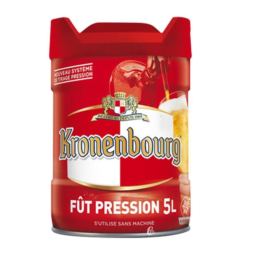 Fut de bière 5 litres EASYKEG KRONENBOURG (Bière)